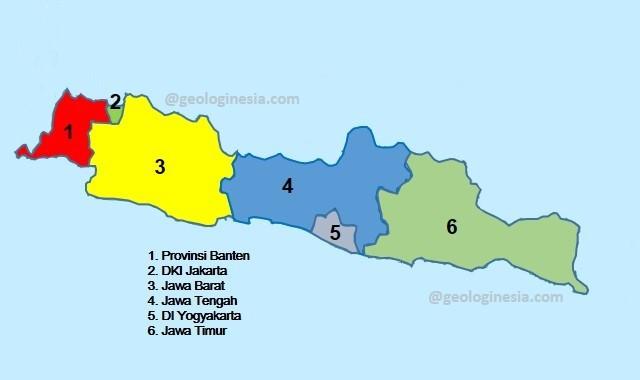 pembagian provinsi di pulau jawa