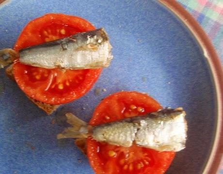 Pincho de sardina en aceite