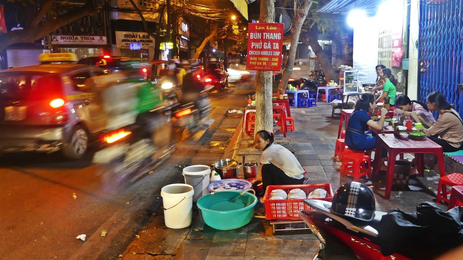 Hanoi uliczne jedzenie