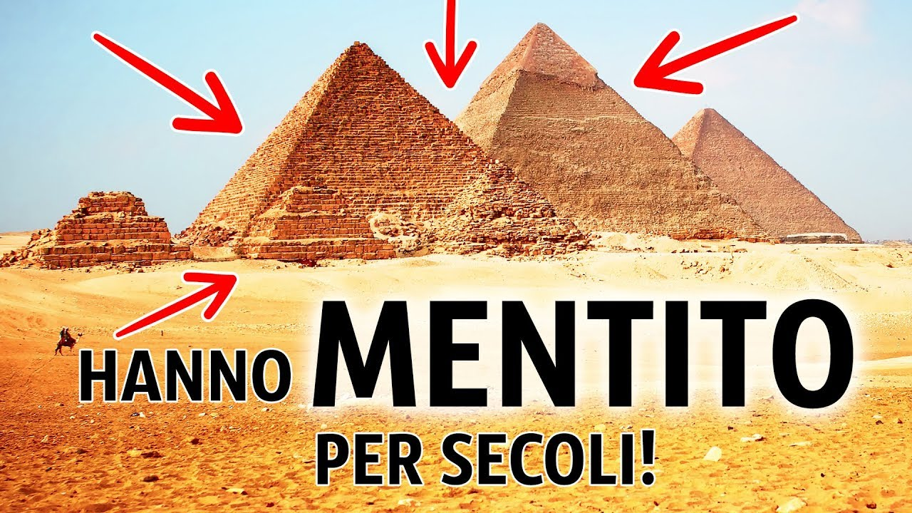 Carbonio risalente piramidi di Giza