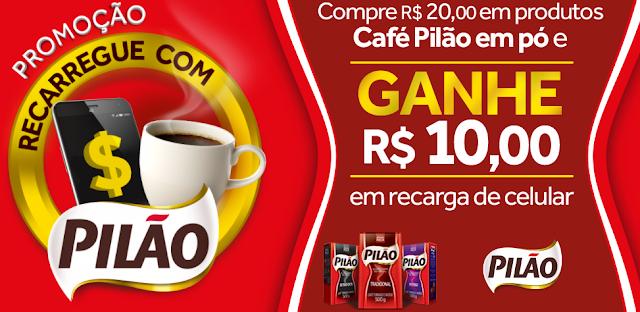 """Promoção: """"Recarregue com Pilão"""" blog topdapromocao.com.br topdapromocao.blogspot.com.br"""
