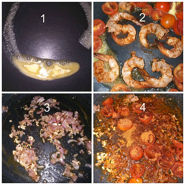 Step by Step Pictures of how to make Cajun Shrimp Pasta (Seafood Pasta)