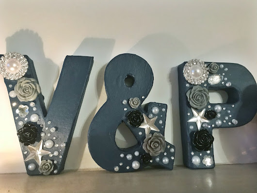 Decorative Letters: How To and the Finished Product