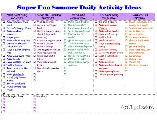 printable summer activity calendar