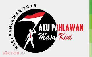 Logo Hari Pahlawan 2019: Aku Pahlawan Masa Kini - Download Vector File CDR (CorelDraw)