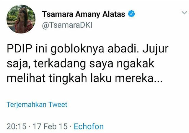 WADUH! Netizen Bongkar Twit Tsamara Soal PDIP... NGERI!