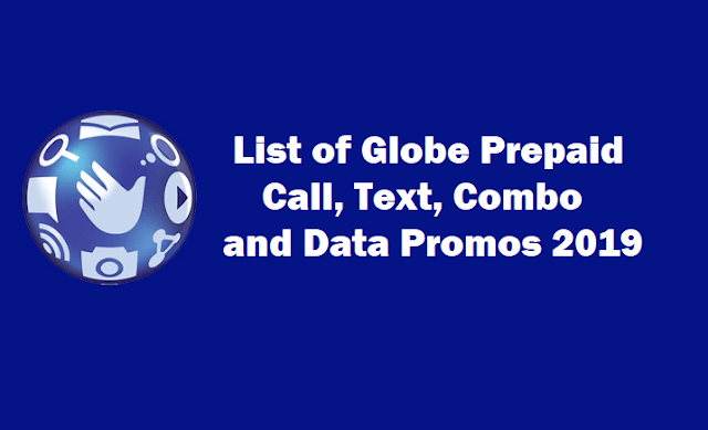 List of Globe Prepaid Promos 2019: Call, Text, Combo and Internet Data