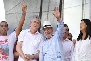 """Ricardo Coutinho encabeça manifesto nacional no qual defende """"Eleição sem Lula é Fraude"""""""