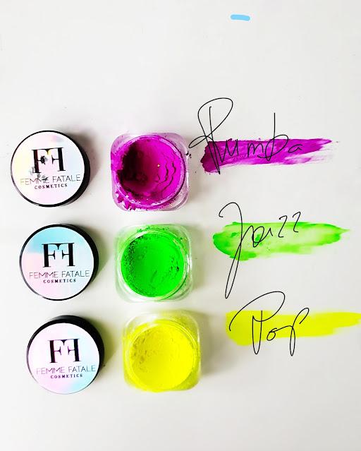 pigmenty neonowe Femme Fatale pigmentowelove