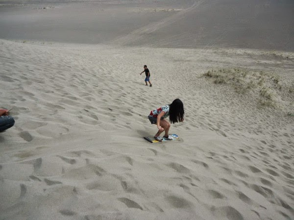 sandboarding at Paoay Sand Dunes