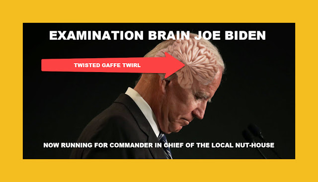 Memes: EXAMINATION BRAIN JOE BIDEN TWISTED GAFFE TWIRL