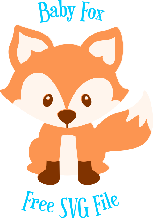 This cute little baby fox SVG file is yours to use with your favorite ...