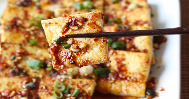 Pan Fried Tofu With Spicy Korean Sauce Recipe