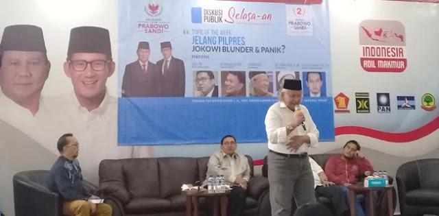Ridwan Saidi: Sudah Jodohnya Prabowo Presiden, Masa Tidak Boleh Menang?