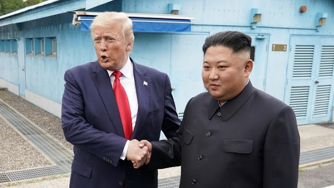 Trump é o primeiro presidente dos EUA a entrar na Coreia do Norte
