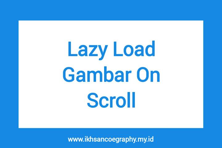 Lazy gambar on scroll