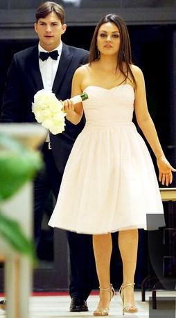 Foto de Ashton Kutcher en su matrimonio con Mila Kunis