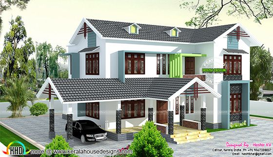 5 bedroom house by Hashir KV
