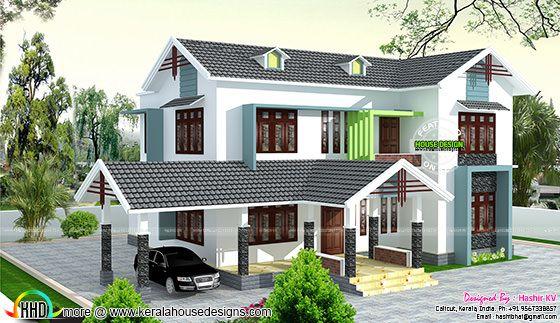 5 bedroom house by Hashir KV