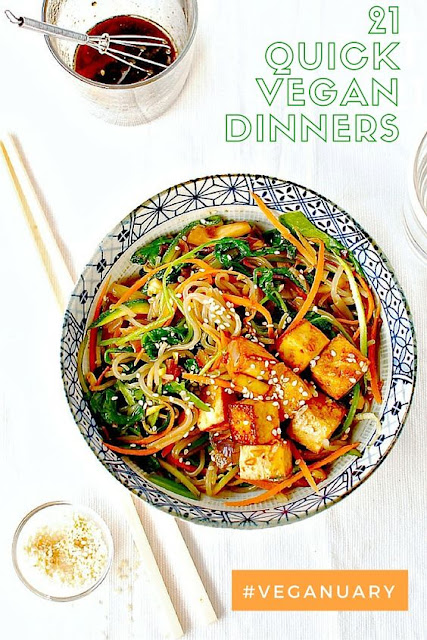 Meals often have to be a speedy affair midweek. Speed things up with 21 tasty and quick vegan midweek meals. #veganuary #vegan #veganrecipes #quickveganrecipes #easyveganrecipes