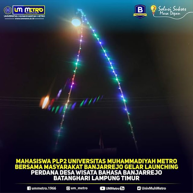 Mahasiswa PLP Prodi Pendidikan Bahasa Inggris Mengikuti Program Pengabdian Masyarakat Kampung Bahasa di Desa Banjarejo 38 B Lampung Timur