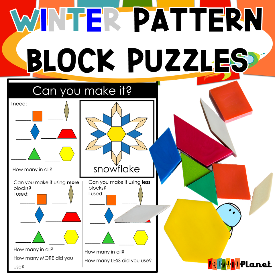 Winter Pattern Block Puzzles Image