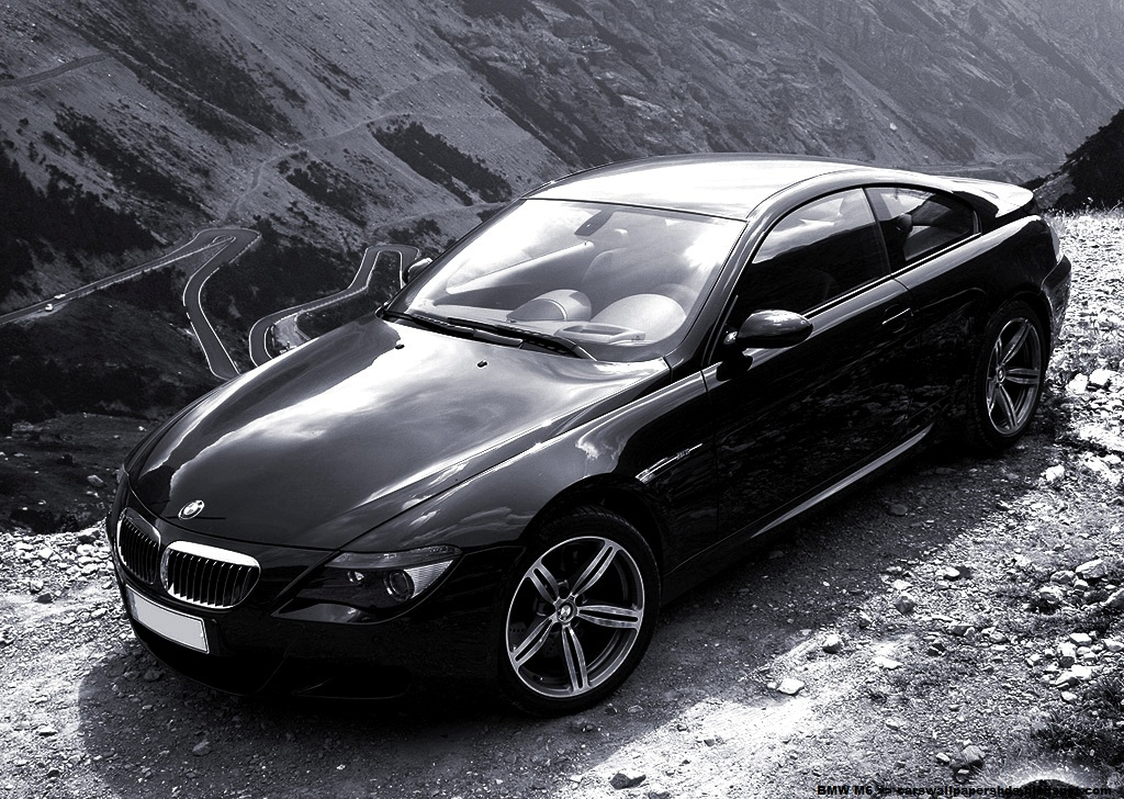 BMW M6 Black and White Cars Wallpapers HD 2012
