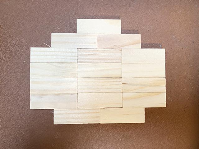 blocks in pumpkin shape