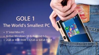 [Video] GOLE 1, PC Dengan Sistem Operasi Windows 10 Terkecil Dan Murah