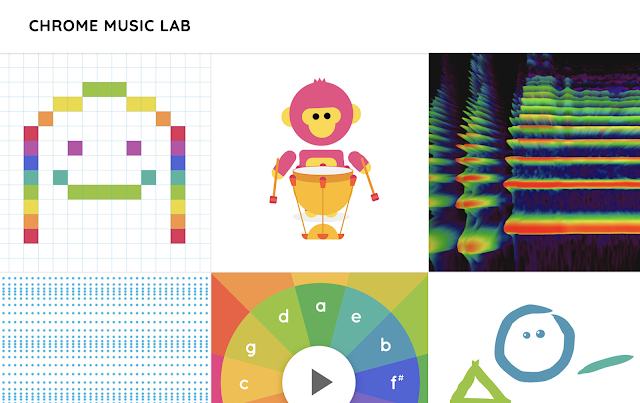 The home screen of Chrome Music Lab