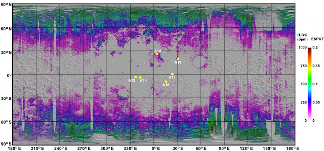 Researchers create first global map of water in Moon's soil