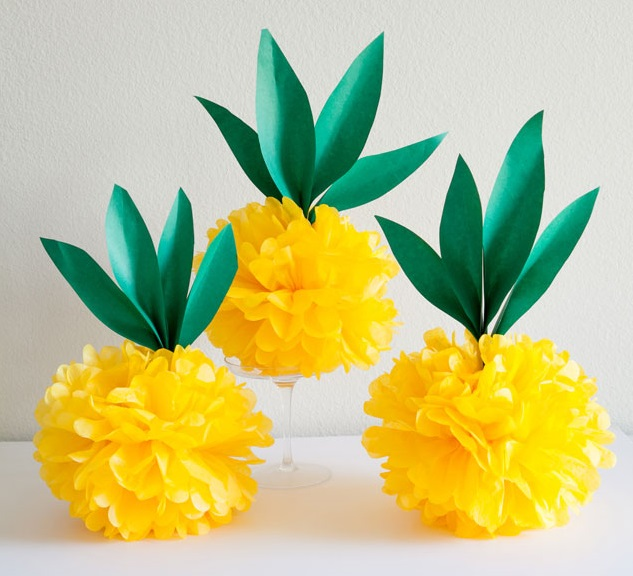 Diy Tissue Paper Pineapples Craftsonfire