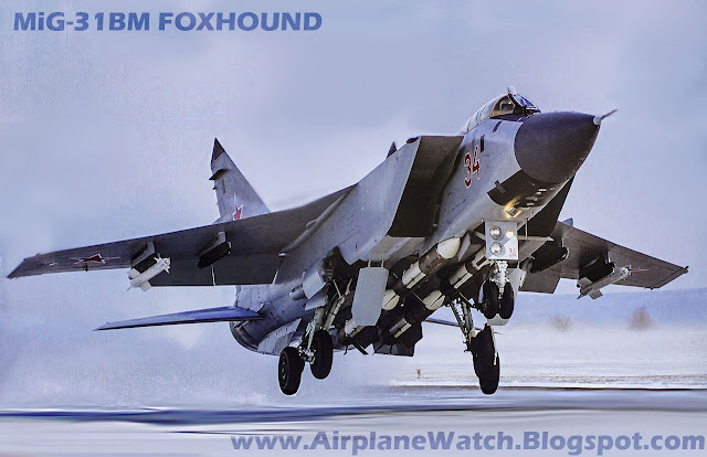 MiG-31BM Foxhound Supersonic Long-Range Interceptor Fighter Jet