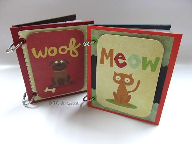 mini-álbum fotos scrapbook animal cachorro gato