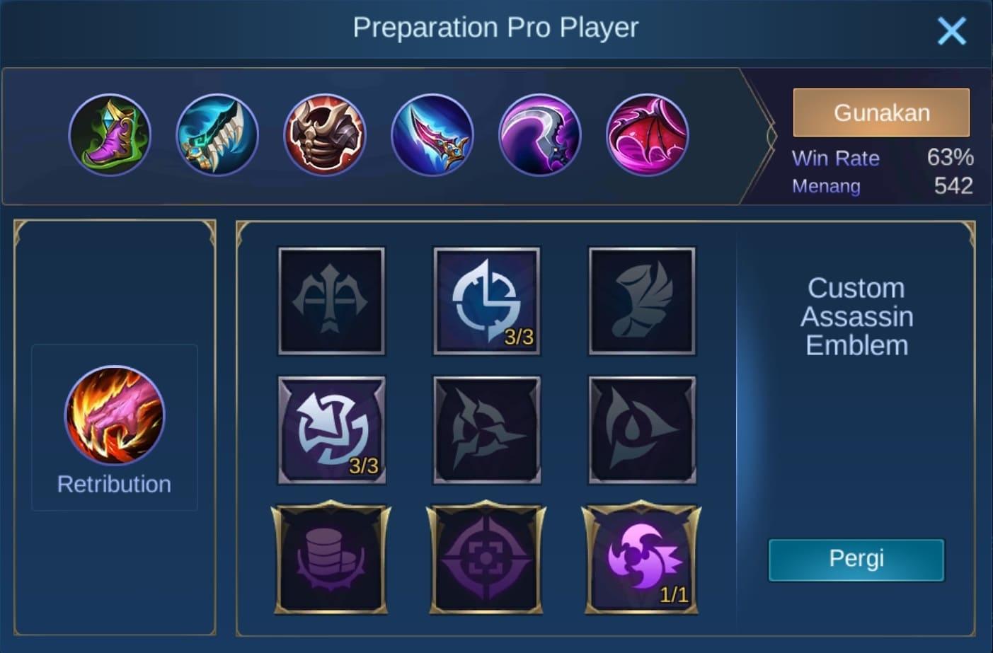 build item granger mobile legends