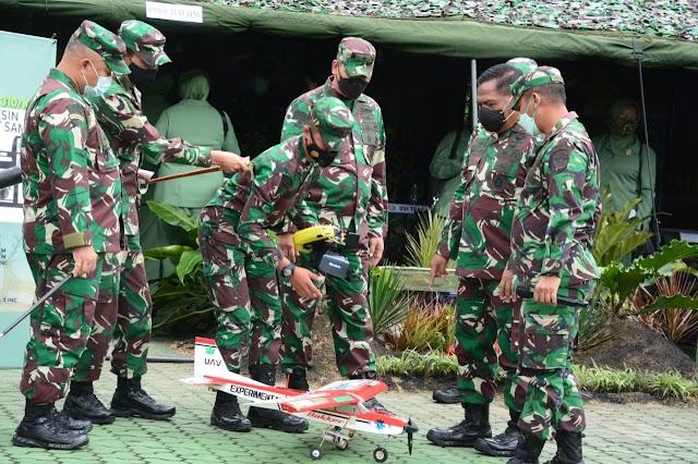 Pangdam III/Slw Kagum Karya Inovasi Prajurit Brigif 15/Kujang II. Ciptakan Pesawat Unmanned Aeral Vehicle
