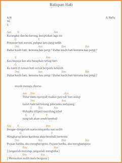 chord ratapan hati lagu dangdut a rafiq