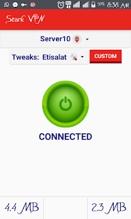 Download Stark VPN 3.9 for Etisalat 0.0k fix