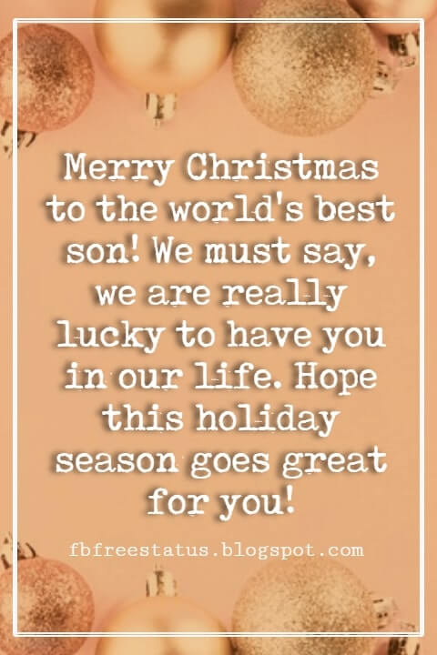 Christmas Messages for Son