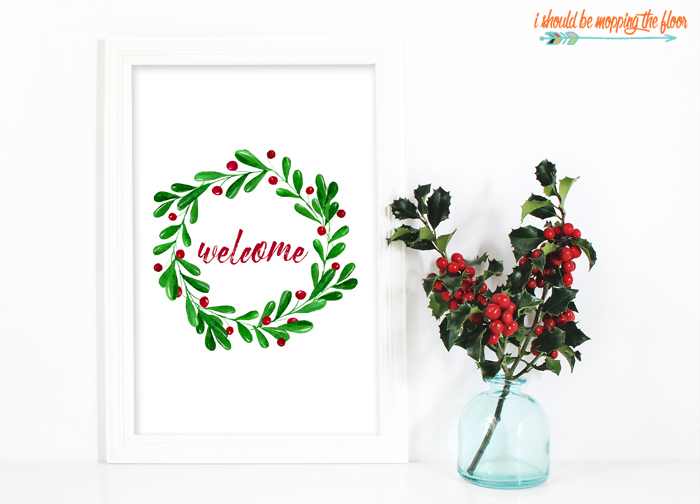 Welcome Wreath Printable