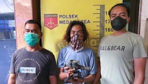 Meteran Air Membuat Pria Ini Masuk ke Kamar Pro Deo Polsek Medan Area.