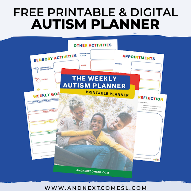 Autism planner printable