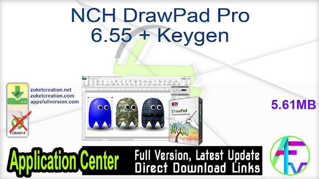 NCH DrawPad Pro 6.55 + Keygen