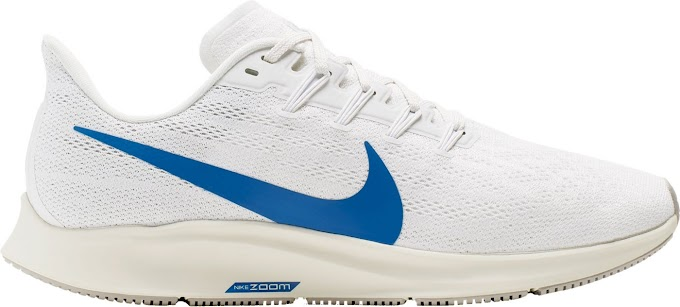 Nike Men's Air Zoom Pegasus 36 Running Shoes - Platinum Tint Game Royal White