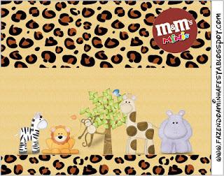 Etiqueta M&M de La Selva de Juguete para imprimir gratis.