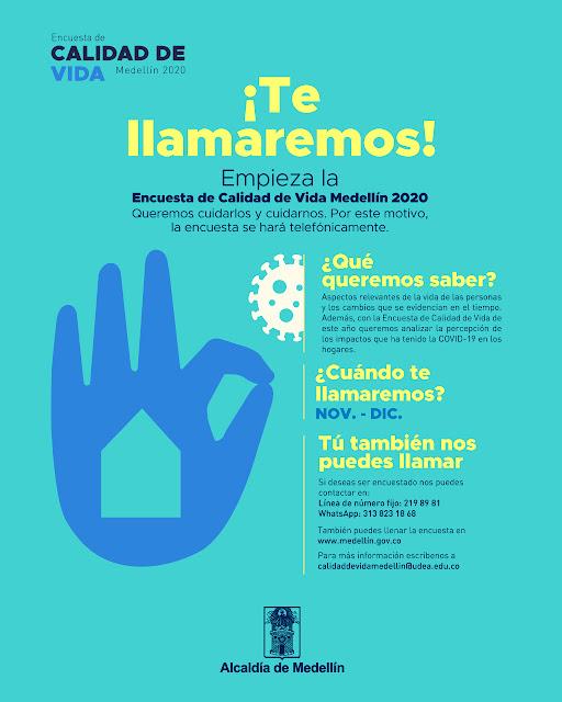 Medellín realizará encuesta de calidad de vida!