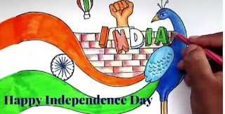 Happy Indipendece Day Drawing 2020 - 15th August Drawing