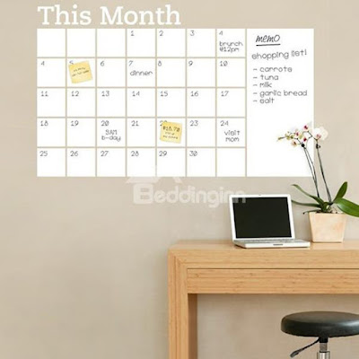DIY Monthly Calendar Wall Sticker