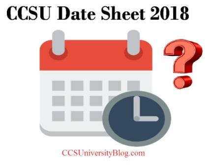 CCS University Date Sheet 2018 | Minor changes in BA B.com B.Sc BBA Exam Scheme [23 march]