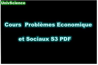 Cours Problèmes Economique et Sociaux S3 PDF.